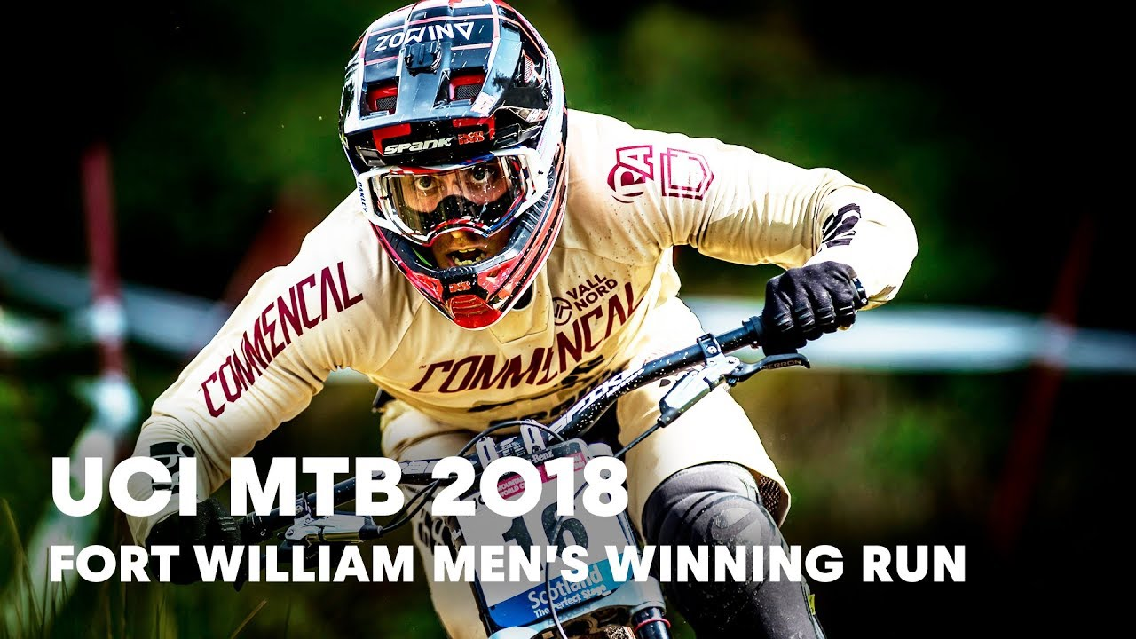 Who won the men's downhill final at Fort William? | UCI MTB 2018