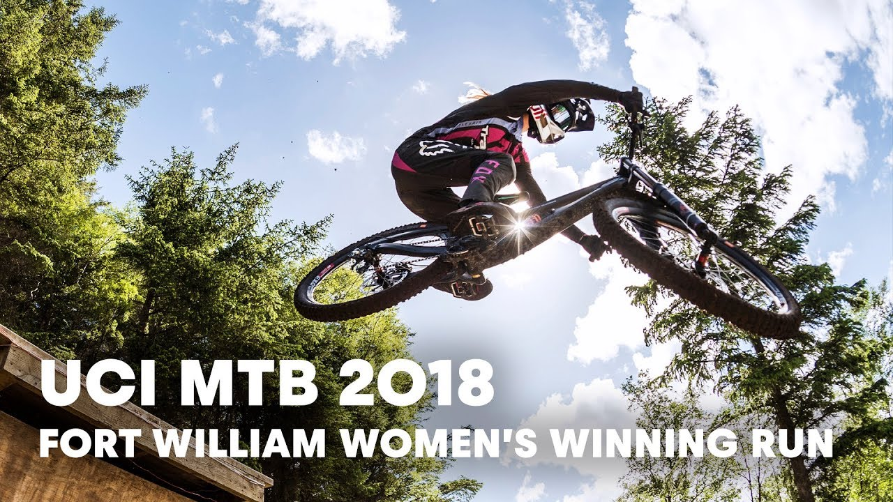 Who won the women's downhill final at Fort William? | UCI MTB 2018