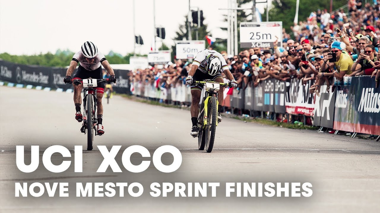 The sprint finishes light up the Nové Město XCO finals. | UCI MTB 2018 Highlights