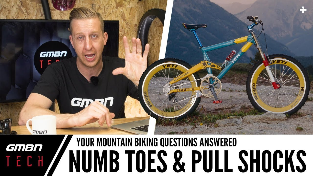 Numb Toes While Riding & Mountain Bike Pull Shocks   Ask GMBN Tech