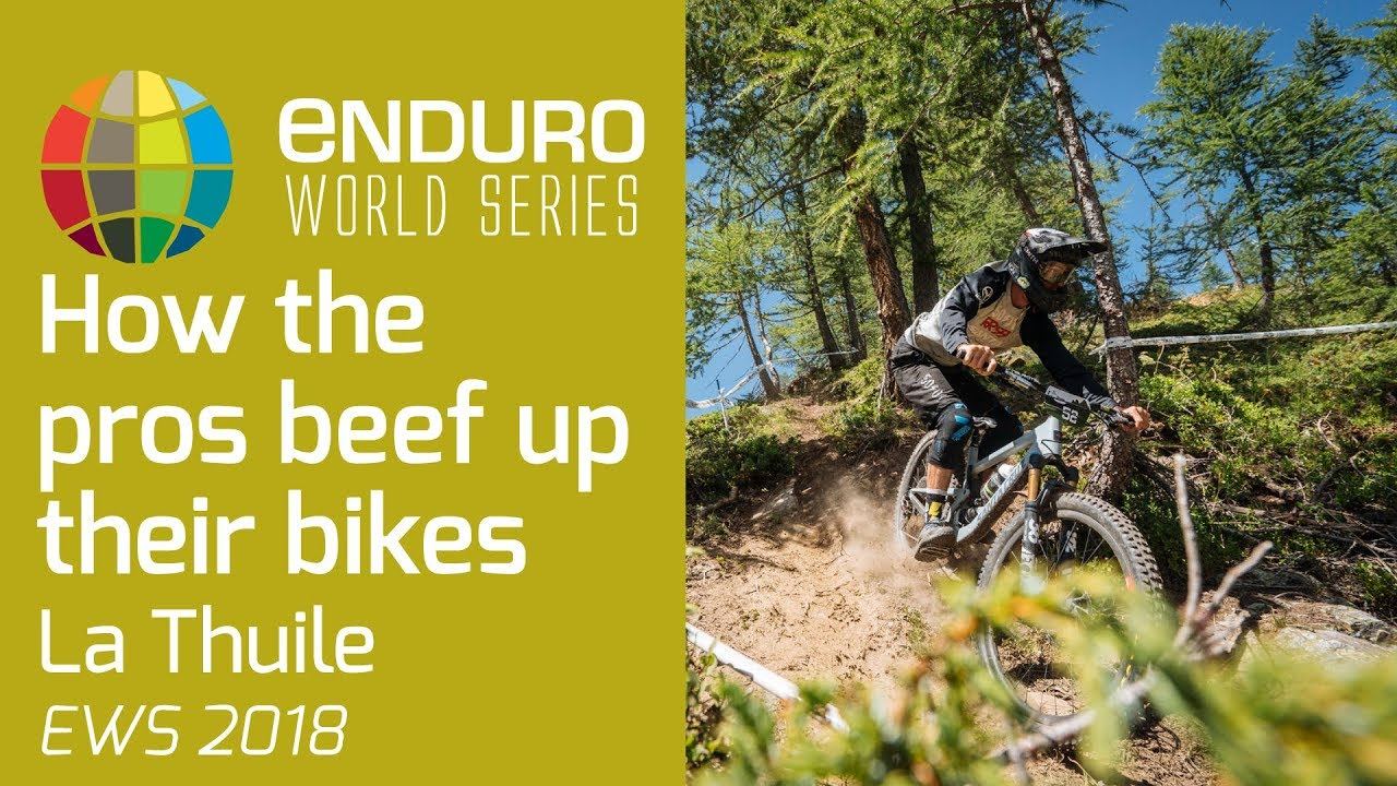 How do the enduro pros beef up their bikes?